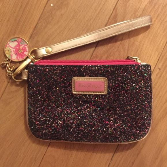 Lilly Pulitzer Handbags - Lilly Pulitzer Glitter Wristlet
